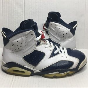 2012 NIKE AIR JORDAN 6 OLYMPIC 384664-130 beaters